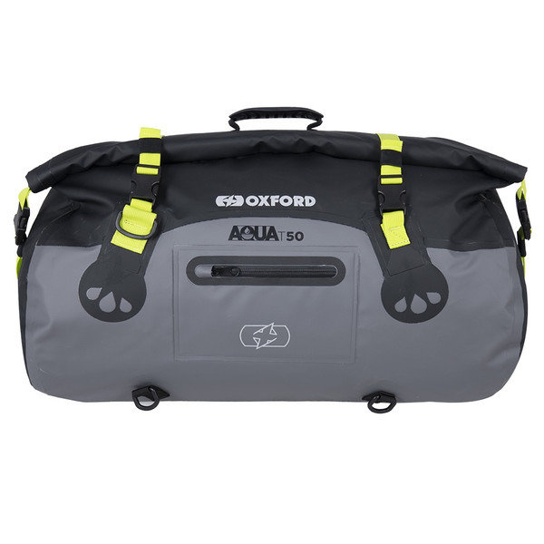 Oxford Aqua T-50 Roll Bag - Black / Grey / Fluo