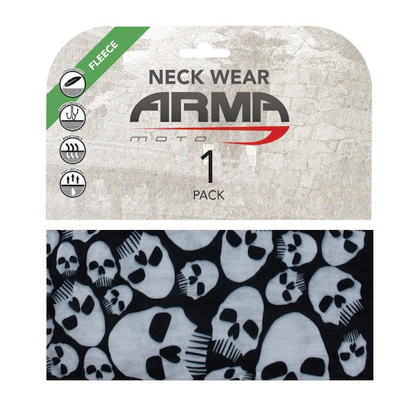 Armr Winter Fleece Face Mask Neck Tube - Skulls