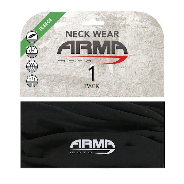 Armr Winter Fleece Face Mask Neck Tube - Black