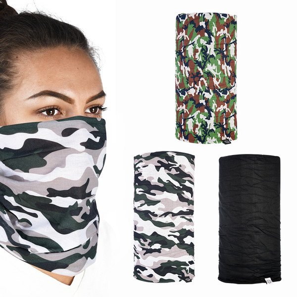 Oxford Comfy Neck Tube 3 Pack - Camo