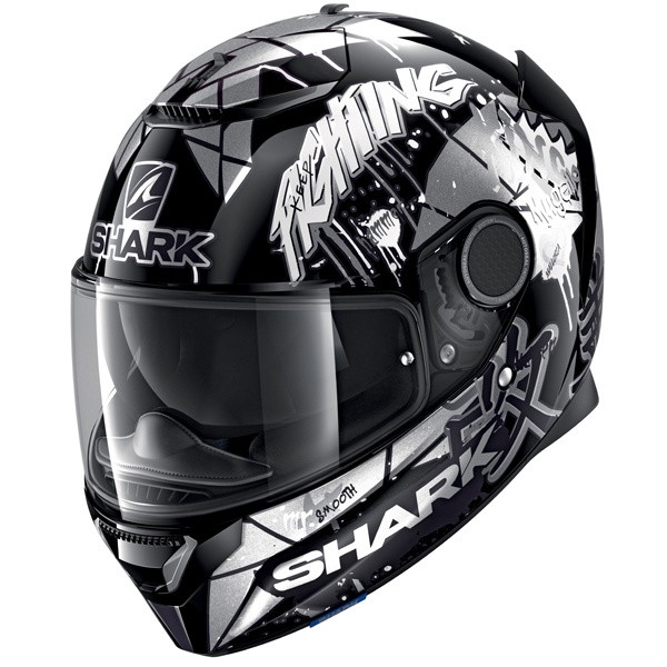 Shark Spartan 1.2 Lorenzo Cat GP KWX - Silver / Black