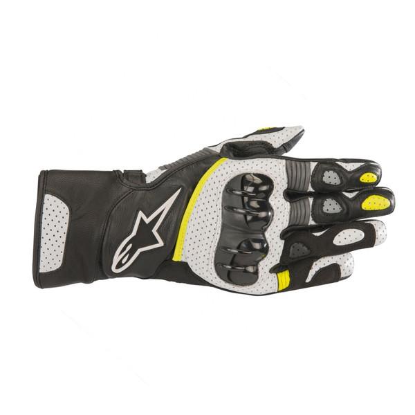 Alpinestars SP-2 V2 Gloves - Black / White / Yellow Fluo