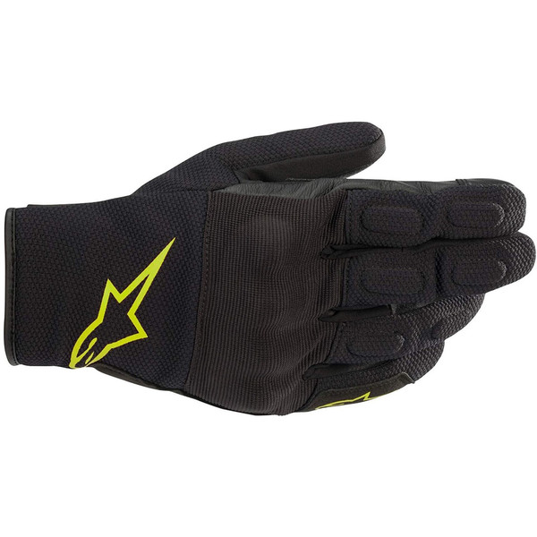 Alpinestars S Max Drystar Gloves - Black / Yellow Fluo