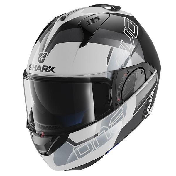 Shark Evo One 2 Slasher Flip Front Modular Helmet WKS - White / Black