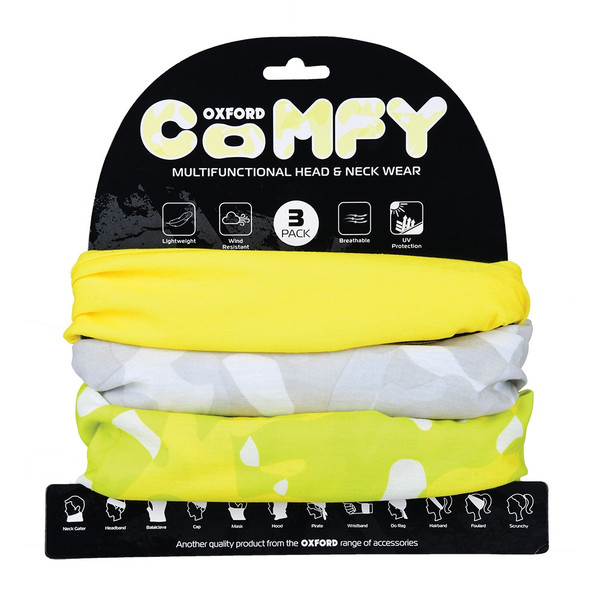 Oxford Comfy Havoc Fluo Yellow 3 Pack