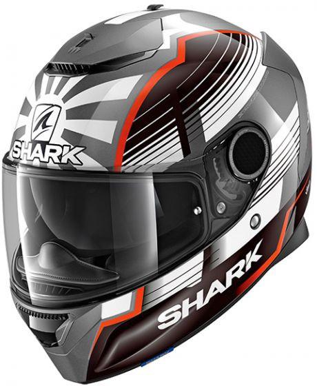 Shark Spartan Zarco Malaysia GP Helmet AWR - Anthracite / White / Red