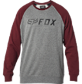 Fox Apex Crew Fleece - Grey / Red