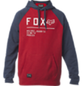 Fox Non Stop Raglan PO Fleece - Chili Red