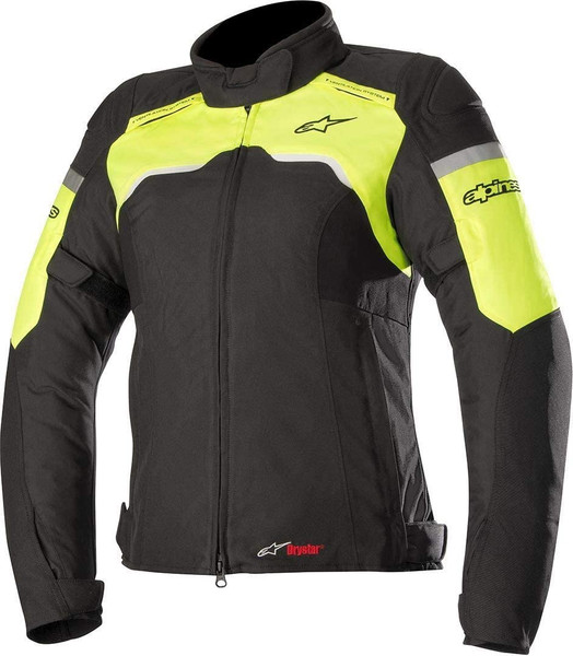 Alpinestars Stella Hyper Drystar Women's Jacket - Black / Yellow Fluo
