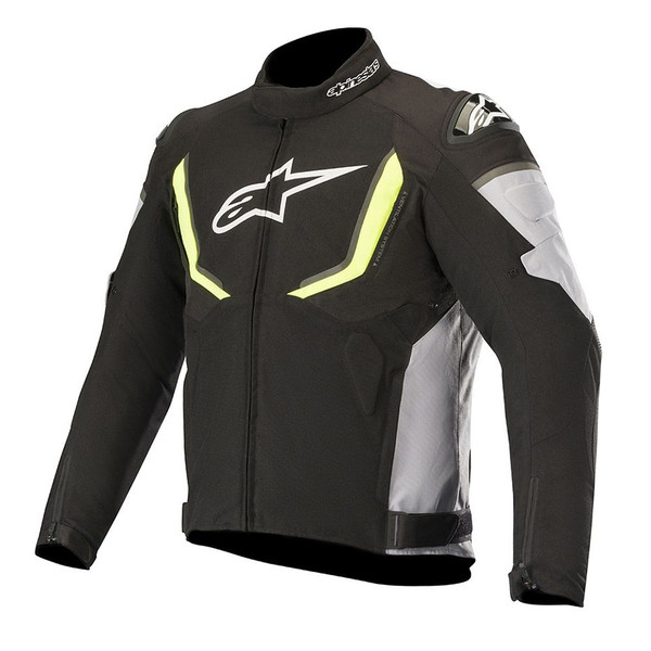 Alpinestars T-GP R V2 Waterproof Textile Jacket - Black / Grey / Yellow Fluo