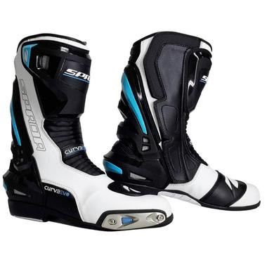 Spada Curve Evo Waterproof Motorcycle Boots - White / Black