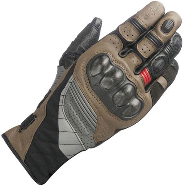Alpinestars Belize Drystar Glove - Tobacco Brown / Red