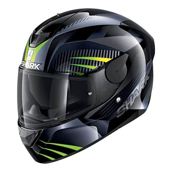 Shark D-Skwal Mercurium Full Face Helmet KAG - Black / Green