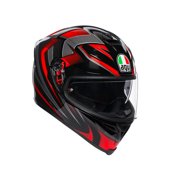 AGV K5-S Hurricane 2.0 Helmet - Black / Red