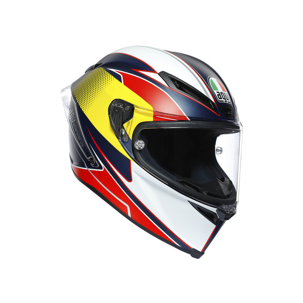 AGV Corsa R Supersport Helmet - Blue / Red / Yellow