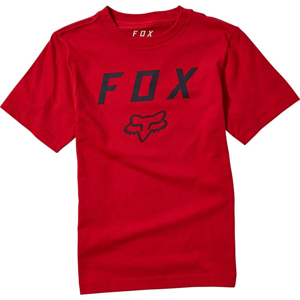 Fox Youth Legacy Moth SS Tee - Red Chili