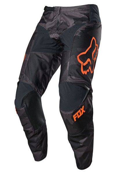 Fox 180 Trev Pant - Black / Camo / Orange Front