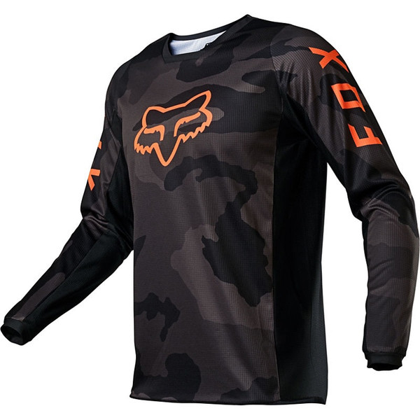 Fox 180 Trev Jersey - Black / Camo / Orange Front