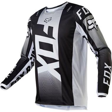 Fox 180 Oktiv Jersey - Black / White Front