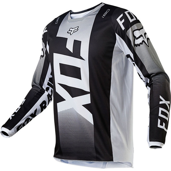 Fox 180 Oktiv Jersey - Black / White Front