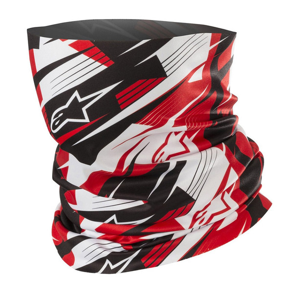 Alpinestars Blurred Neck Tube - Black / White / Red