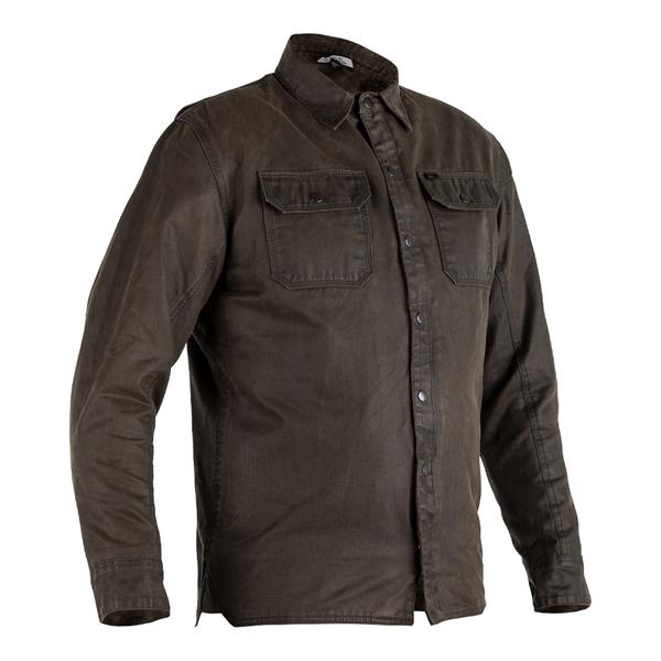 RST X Kevlar® District Wax Reinforced CE Mens Textile Shirt - Olive