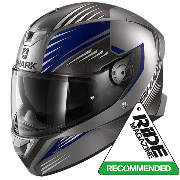 Shark Skwal 2 Hallder Full Face Helmet Mat - Anthracite / Blue