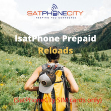 IsatPhone Prepaid Reloads - Add prepaid minutes to your SatPhoneCity SIM card