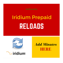 Iridium Prepaid Reloads - Add Prepaid Minutes To Your SatPhoneCity Iridium SIM Card