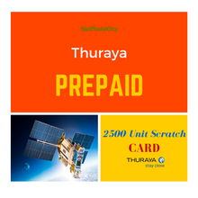 Thuraya 2500 Unit Prepaid Scratch Card - Units delivered via email as a PIN code