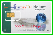 Iridium 600 Minute Prepaid Card - 1 year expiry, unused minutes carry forward