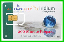Iridium 200 Minute Prepaid Card - 6 month expiry, unused minutes carry forward