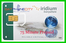 Iridium 75 Minute Prepaid Card - 1 month expiry, unused minutes carry forward