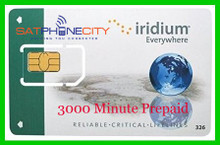 Iridium 3000 Minute Prepaid Card - 2 year expiry & unused minutes carry forward