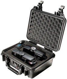 Pelican 1200 Case - Watertight, crushproof and dustproof. Comes with pick n pluck foam interior