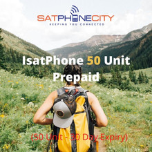 IsatPhone Prepaid 50 Unit - (Price includes one time only $10 SIM fee)
