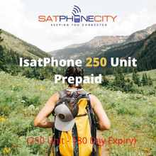 IsatPhone Prepaid 250 Unit - (Price includes one time only $10 SIM fee & FREE Shipping)