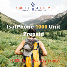 IsatPhone Prepaid 1000 Unit - (Price includes one time only $10 SIM fee & FREE Shipping)