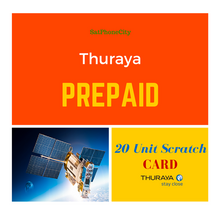 Thuraya 20 Unit Prepaid Scratch Card - Units delivered via email as a PIN code