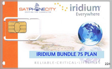 Iridium Bundle 75 Plan - Monthly airtime plan includes 75 Minutes