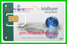 Iridium 300 Minute Prepaid Card - 12 month expiry period & 300 minutes (No rollover)