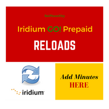 Iridium GO Reloads - Add prepaid minutes to your Iridium GO
