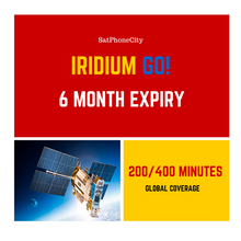 Iridium GO 200/400 Prepaid - Provides 200 voice or 400 data minutes