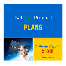 IsatHub 25 MB Prepaid Plan - Receive 25 Megabytes or 125 voice minutes or 200 SMS messages