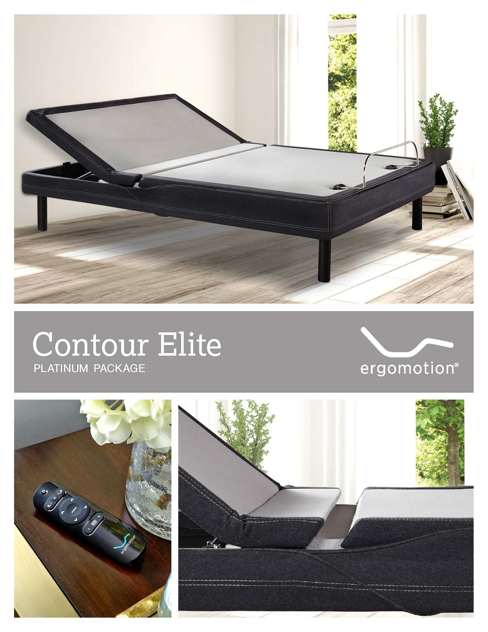 Ergomotion Contour Elite Adjustable Base - Platinum Series