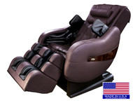 Luraco L-Track iRobotics Legend Plus Massage Chair-Free Delivery & Setup-Chocolate, Black, Cream