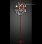 Foucault Iron Orb Chrystal Floor Lamp