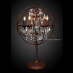 Foucault Iron Orb Chrystal Table Lamp