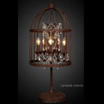 Vintage Birdcage Table Lamp