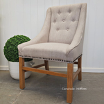 Empire Upholstered Dining Chair - Cream
